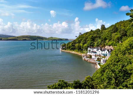 Portmeirion estuary in North Wales, UK. #1181201296