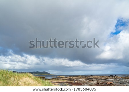 Portnoo seen from Carrickfad at Narin Strand in County Donegal Ireland Stok fotoğraf ©