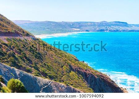 Shutterstock Porto Corallo in Nebida with the coast of the Mediterranean Sea, Carbonia-Iglesias, Sardinia, Italy