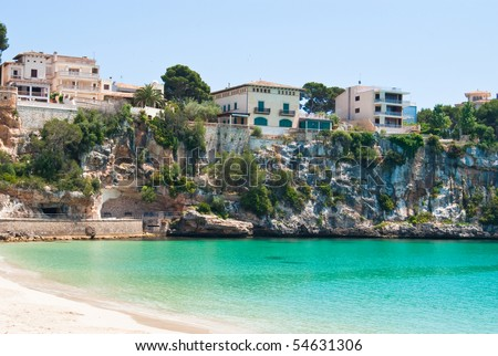 Porto Cristo beach and seaview district, Majorca island, Spain