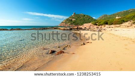 Porto Ferro beach, Alghero, Sardinia, Italy Foto stock ©