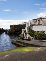 Porto Velho, old port, near the customs building. Santa Cruz das Flores, Flores Island.