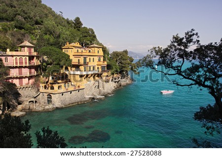 Portofino- small italian town on Ligurian sea.