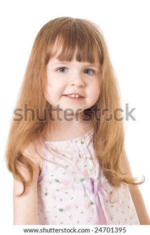 Portrait a smiling little girl #24701395