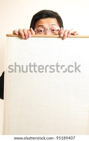 Portrait asia show blank board