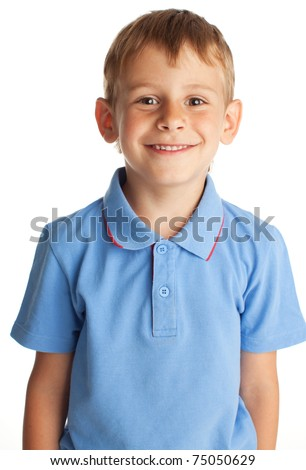 Portrait boy isolated on white