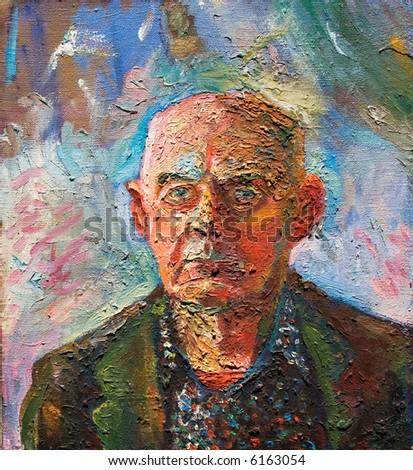 Portrait. Canvas, oil-paint.