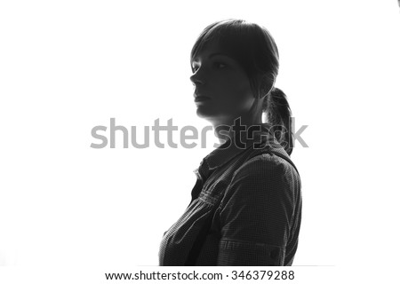 Portrait close up of young beautiful woman indoor