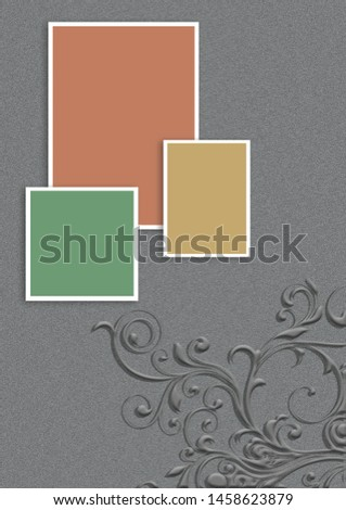 Portrait diary background for corporate design
