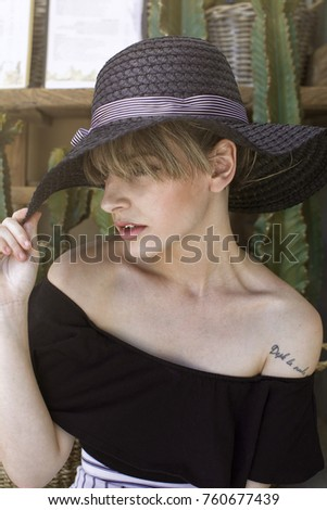 portrait elegance woman #760677439