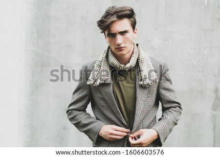 Portrait Handsome Business man with confident face. Professional model and professional photo shoot