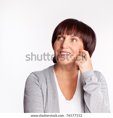 Portrait happiness mature woman