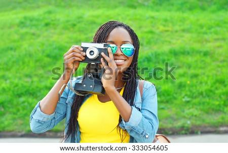 portrait happy smiling african...