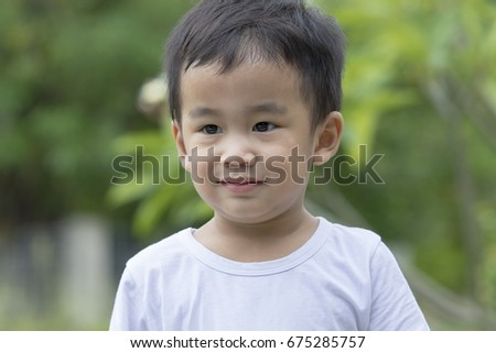 Asian smiling face