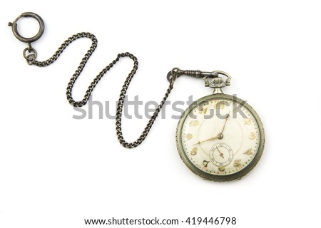 portrait of a antique pocket watch / antique pocket watch