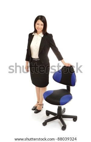 portrait of a asian business woman