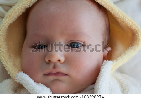 portrait of a baby boy - stock photo