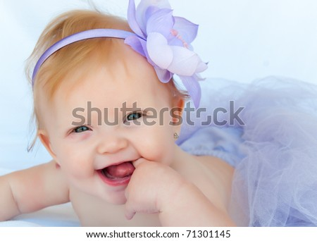 Beautiful Baby Images on Portrait Of A Beautiful Baby Girl Wearing A Purpule Ballet Tutu Stock