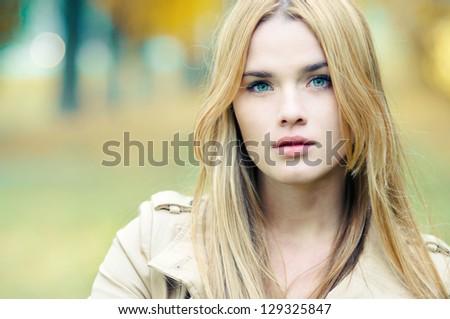 portrait of a beautiful blonde close-up