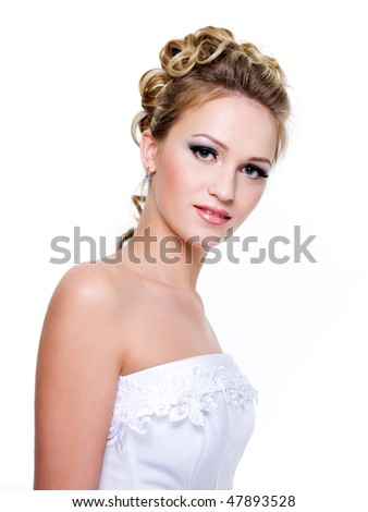 with fashion wedding hairstyle