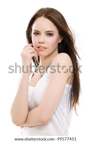 Portrait of a beautiful brunette girl