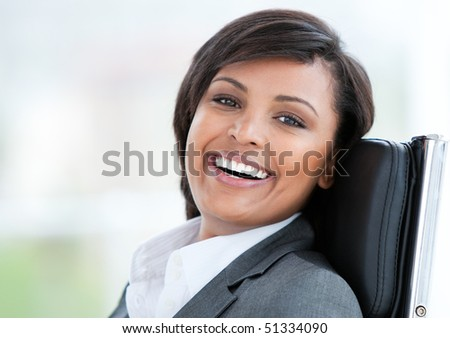 Portrait of a beautiful business woman at work in her office