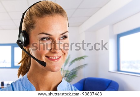 Portrait of a beautiful customer service representative