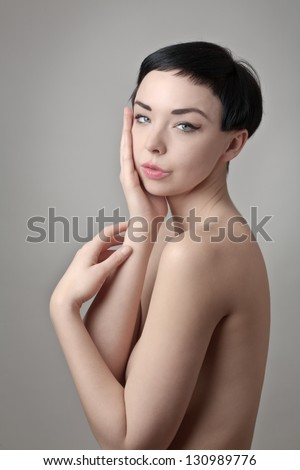 Portrait of a beautiful female model