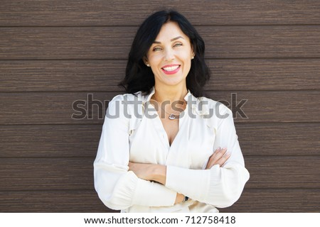 portrait of a beautiful forty-five-year-old woman Photo stock ©