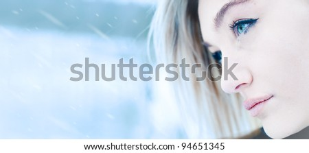 portrait of a beautiful girl close up