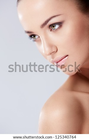 Portrait of a beautiful girl in studio