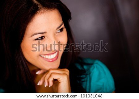 Portrait of a beautiful Latin woman smiling