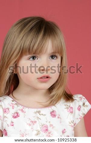 portrait of a beautiful little girl #10925338