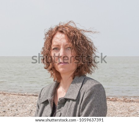 Portrait of a beautiful middle aged woman.