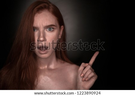 All Angry redhead girl could