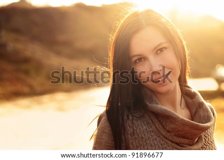 portrait of a beautiful smiling girl