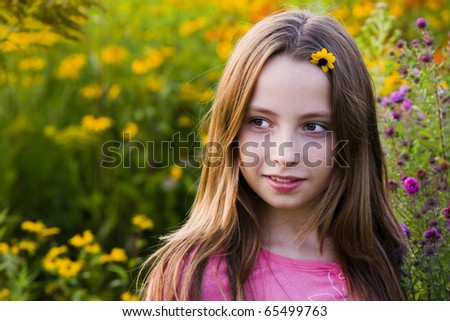 Portrait of a beautiful teenager girl outdoor