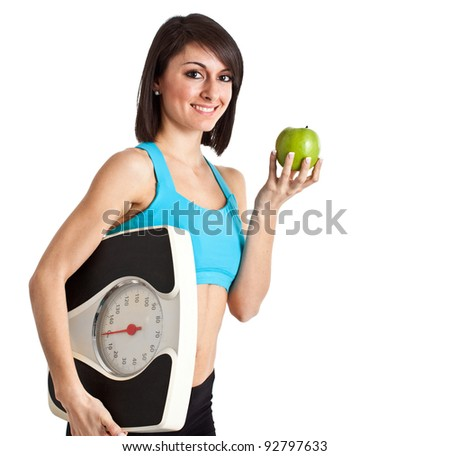 Portrait of a beautiful woman with an healthy lifestyle