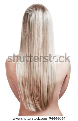 portrait of a beautiful young blonde woman with wonderful hair