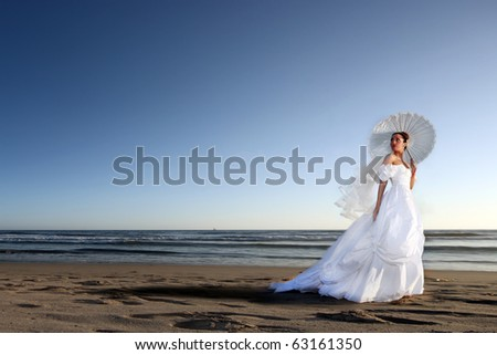 Portrait of a Beautiful Young Bride on her Wedding Day