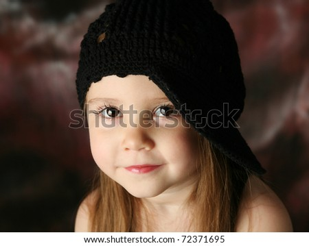 Stock photo portrait of a beautiful young female child model wearing a