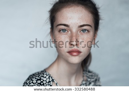 portrait of a beautiful young girl - Shutterstock ID 332580488