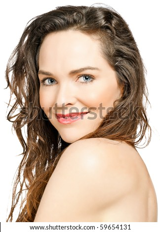 stock photo portrait of a beautiful young sensual woman isolated over white 59654131 The sexiest anal sex pics and video from   XXX Dessert   Picture 8