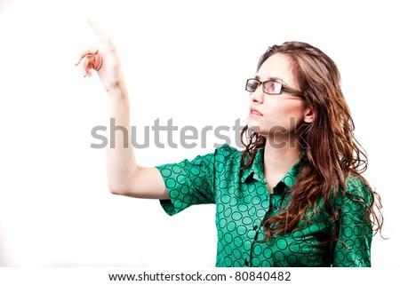 portrait of a beautiful young woman posing in studio