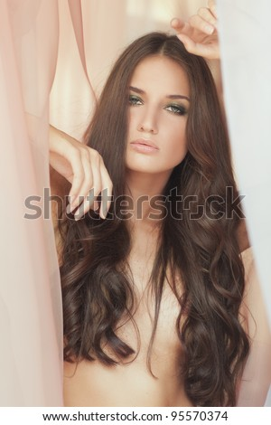 portrait of a beauty girl with long hair