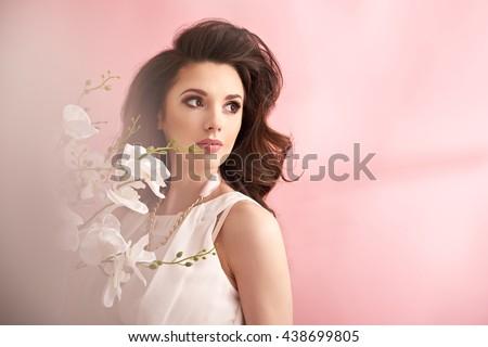Portrait of a beuatiful and elegant lady #438699805
