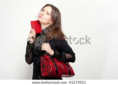 Lifestyle - Pagina 5 Stock-photo-portrait-of-a-bright-beautiful-young-woman-with-fashion-handbag-81274921