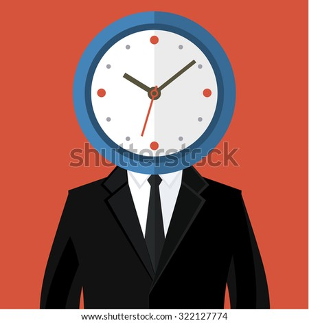 Portrait of a businessman holding a watch. Concept of time management