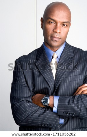 Portrait of a businessman in a very nice suit
