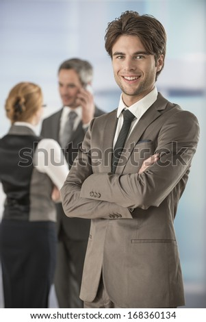 portrait of a businessman in workplace